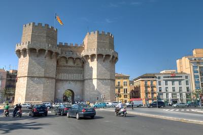 Torres de Serranos in Valencia, Spain