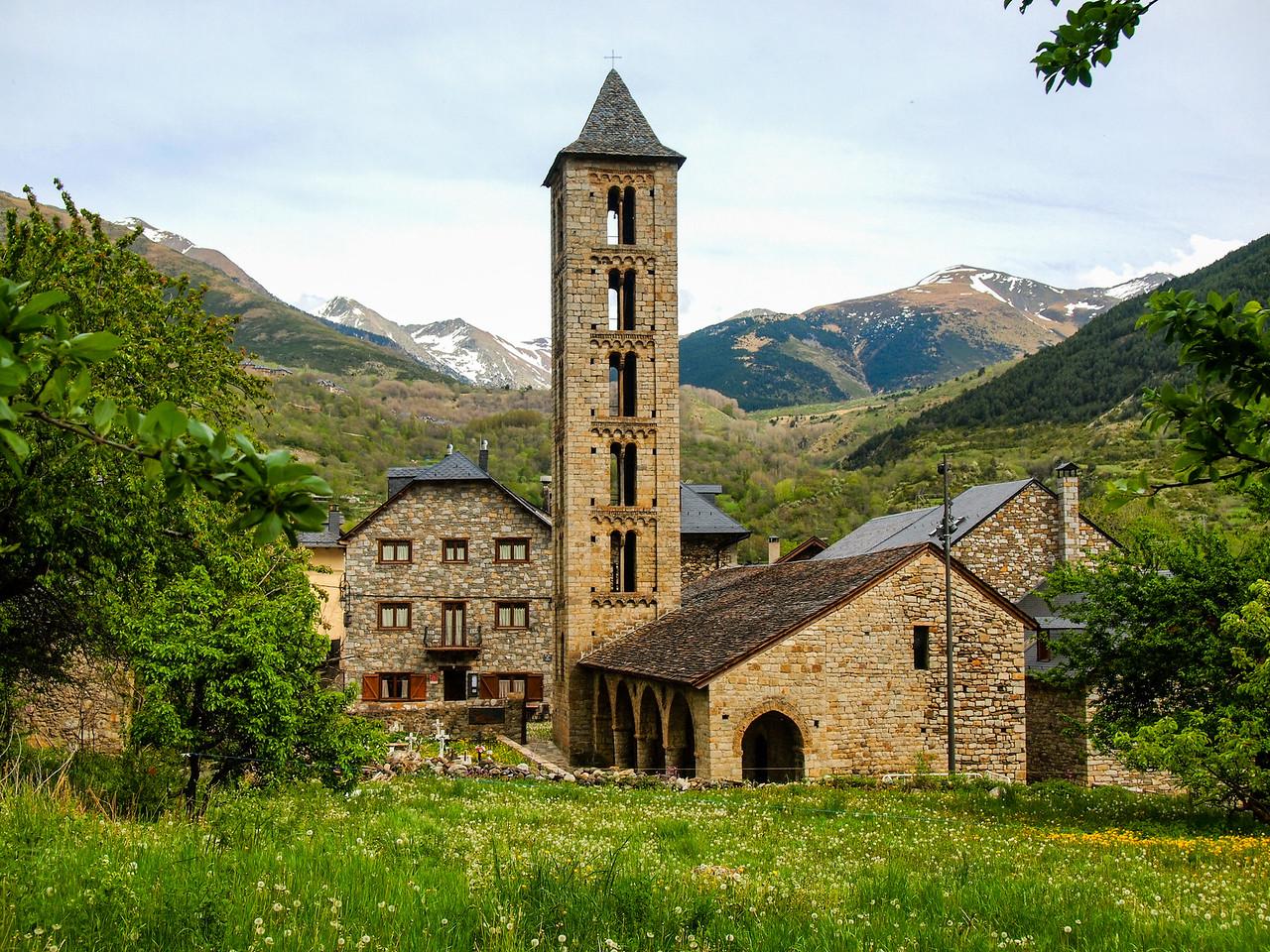 Romanesque church in the Vall de Boi in Spain