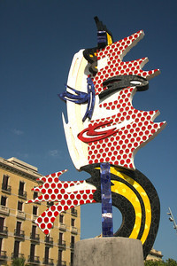 """Barcelona Head""  A 1992 sculpture by famous pop artist Roy Lichtenstein"