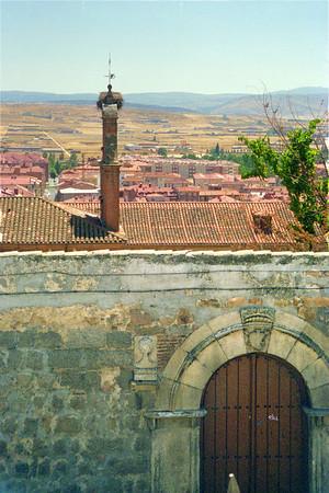 Medieval Wall around Avila Spain