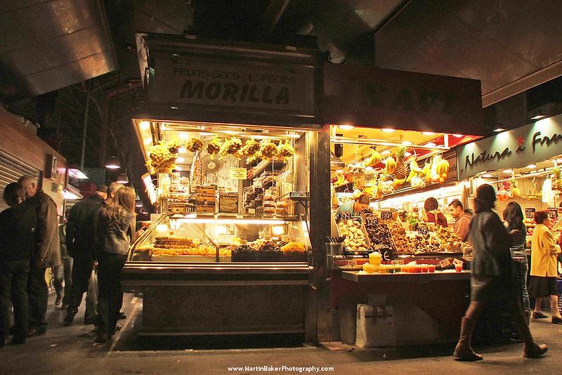 La Boqueria Market, Las Ramblas, Barcelona, Catalunya, Spain.