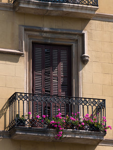 Window and Balcony, Barcelona, Spain