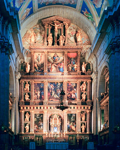 Nave and Altar Inside Segovia Cathedral, Spain