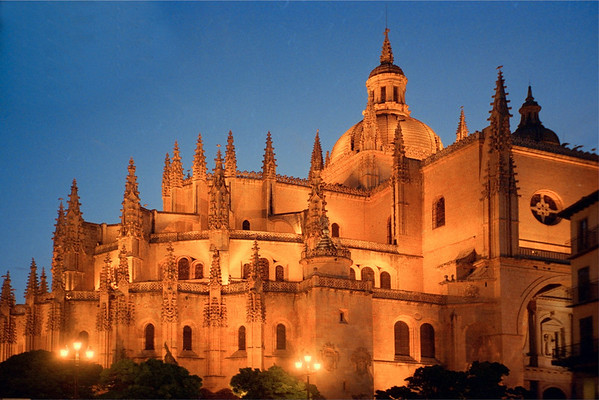The Cathedral in Segovia, Spain, in The Early Evening
