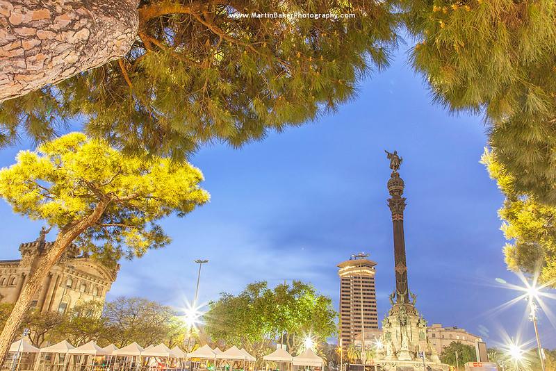 Mirador de Colom, Las Ramblas, Barcelona, Cataluña, Spain.