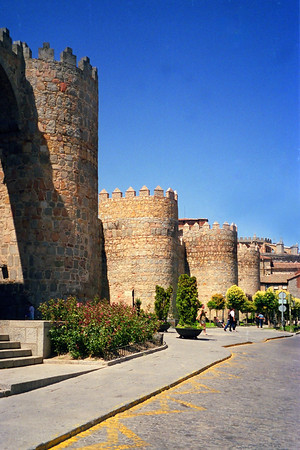 Medieval Wall around Avila Spain
