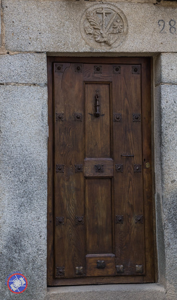 The Sign of the Spanish Inquisition Over a Doorway in La Alberca (©simon@myeclecticimages.com)