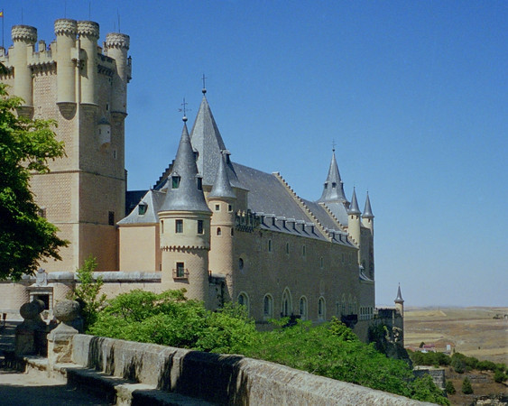 Fortress Walls of The Alcazar in Segovia, Spain