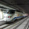Euromed set 101 106 at Barcelona Sants showing the origonal Euromed livery.