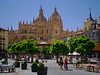 The Plaza Mayor and Cathedral in Segovia, Spain