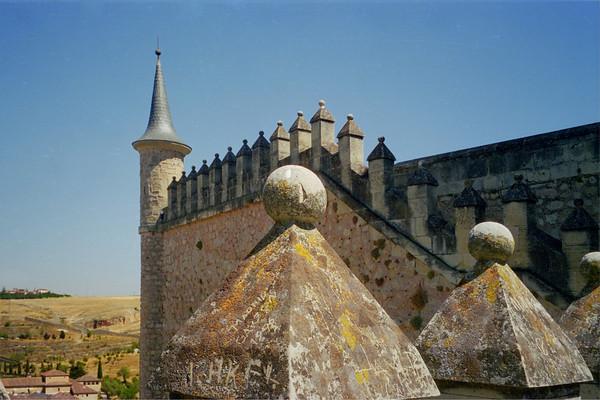 Fortress Walls of The Alcazar in Segovia, Spain