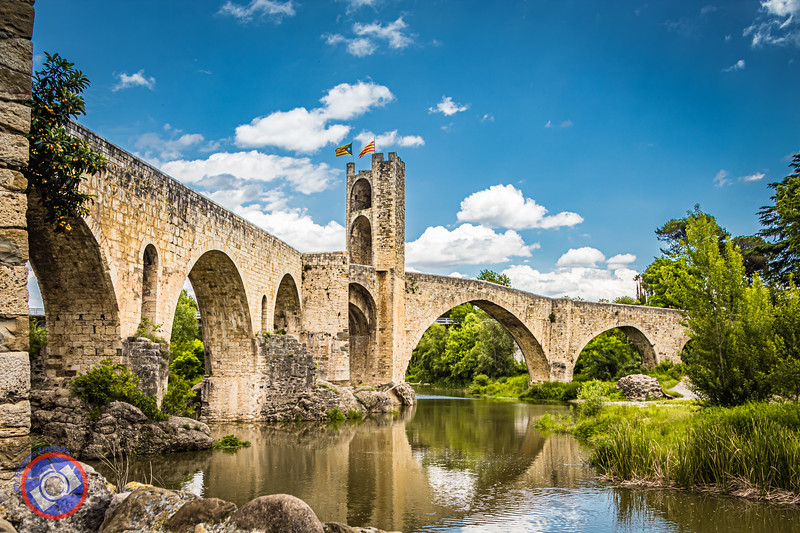 An Alternative View of the Medieval Bridge Crossing the River Fluvia in Besalu (©simon@myeclecticimages.com)