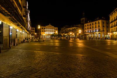 Town Plaza at night, Segovia