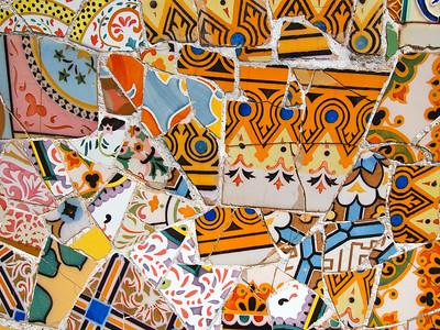 Mosaics at Park Guell