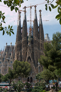 Sagrada Familia Cathedral, Barcelona, Spain.