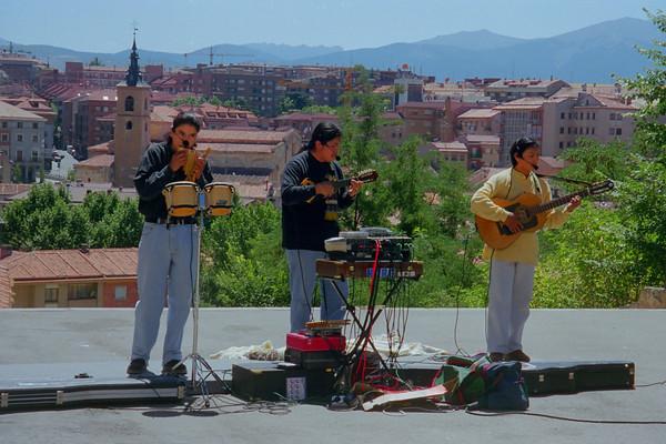 Andean Street Musicians, Segovia Spain
