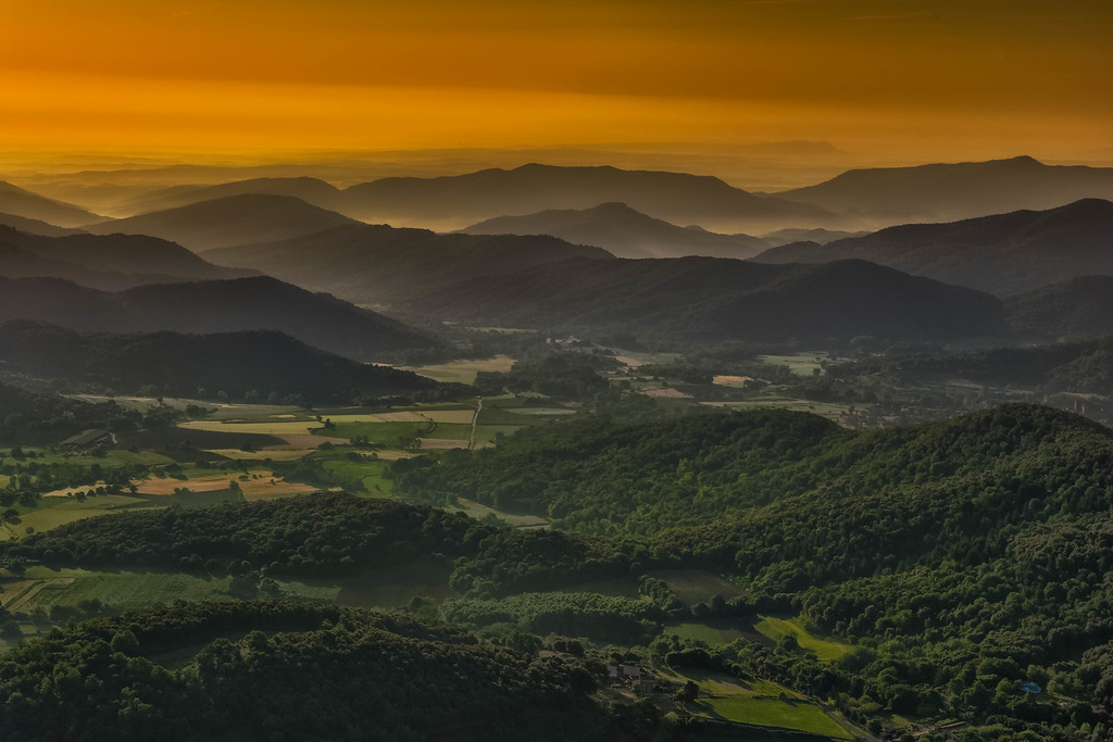 sunrise over the pyrenees in Spain