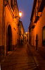 Street in Segovia at twilight