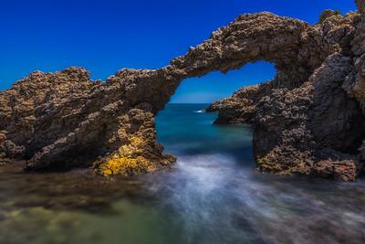 Stone Sea Arch in L'Escala, Spain.
