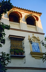 Building in the old Jewish Quarter of Sevilla