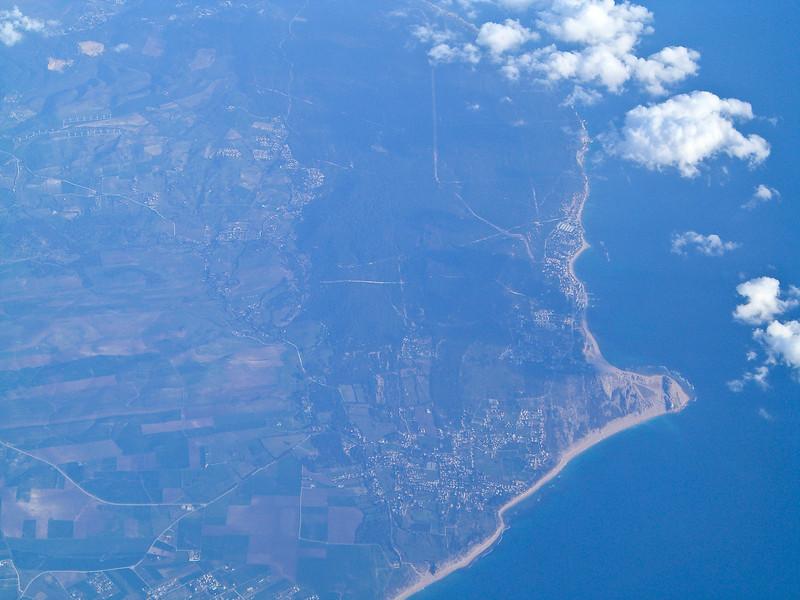 Flying over Gibraltar