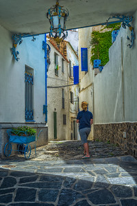Walking the streets of Cadaques, Spain.