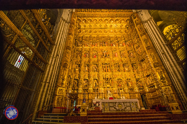 The Screen Behind the High Alter in Sevilla's Cathedral (©simon@myeclecticimages.com)
