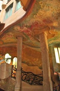The spectacular lobby in Casa Mila.