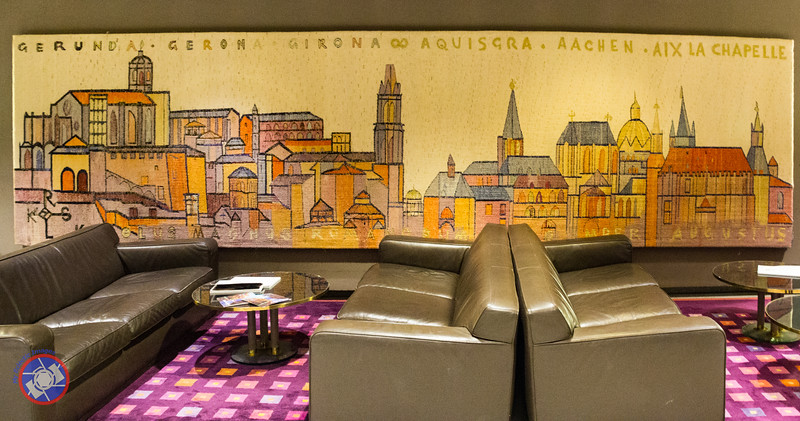 Tapestry Hanging in the Lobby of the Hotel Carlemany in Girona (©simon@myeclecticimages.com)