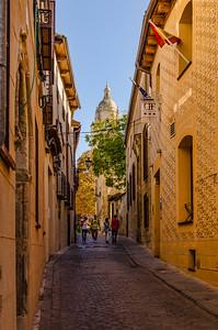 Street in front of the Hotel Don Felipe