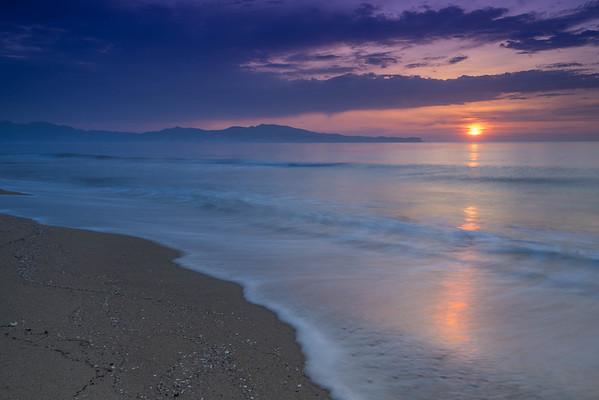 Sunrise in L'Escala.