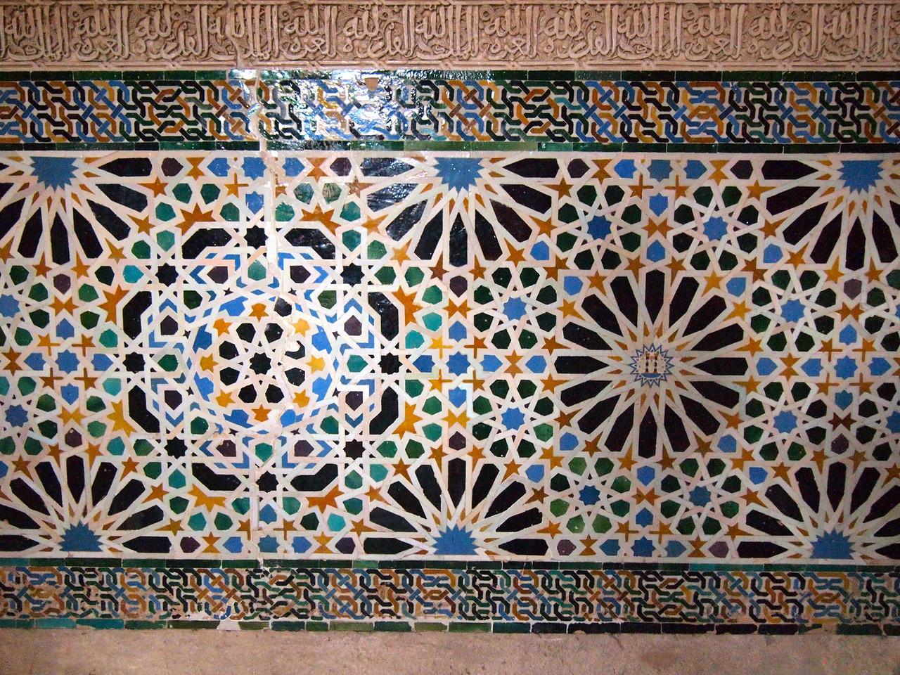 Mosaic in the Alhambra in Granada, Spain