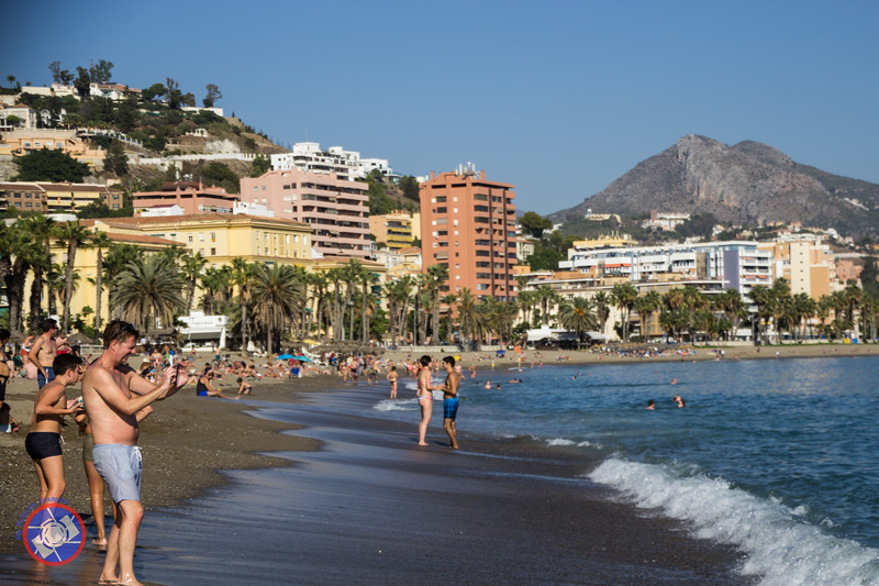 One of the Beaches in Malaga Close to the Port (©simon@myeclecticimages.com)