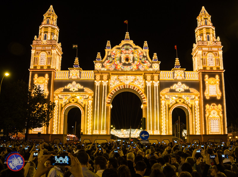 The Lighted Main Entrance to the Feria de Abril in Sevilla (©simon@myeclecticimages.com)