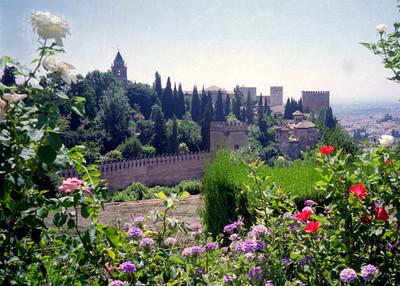 The Gardens of the Generalife in the Alhambra, Grenada, Spain