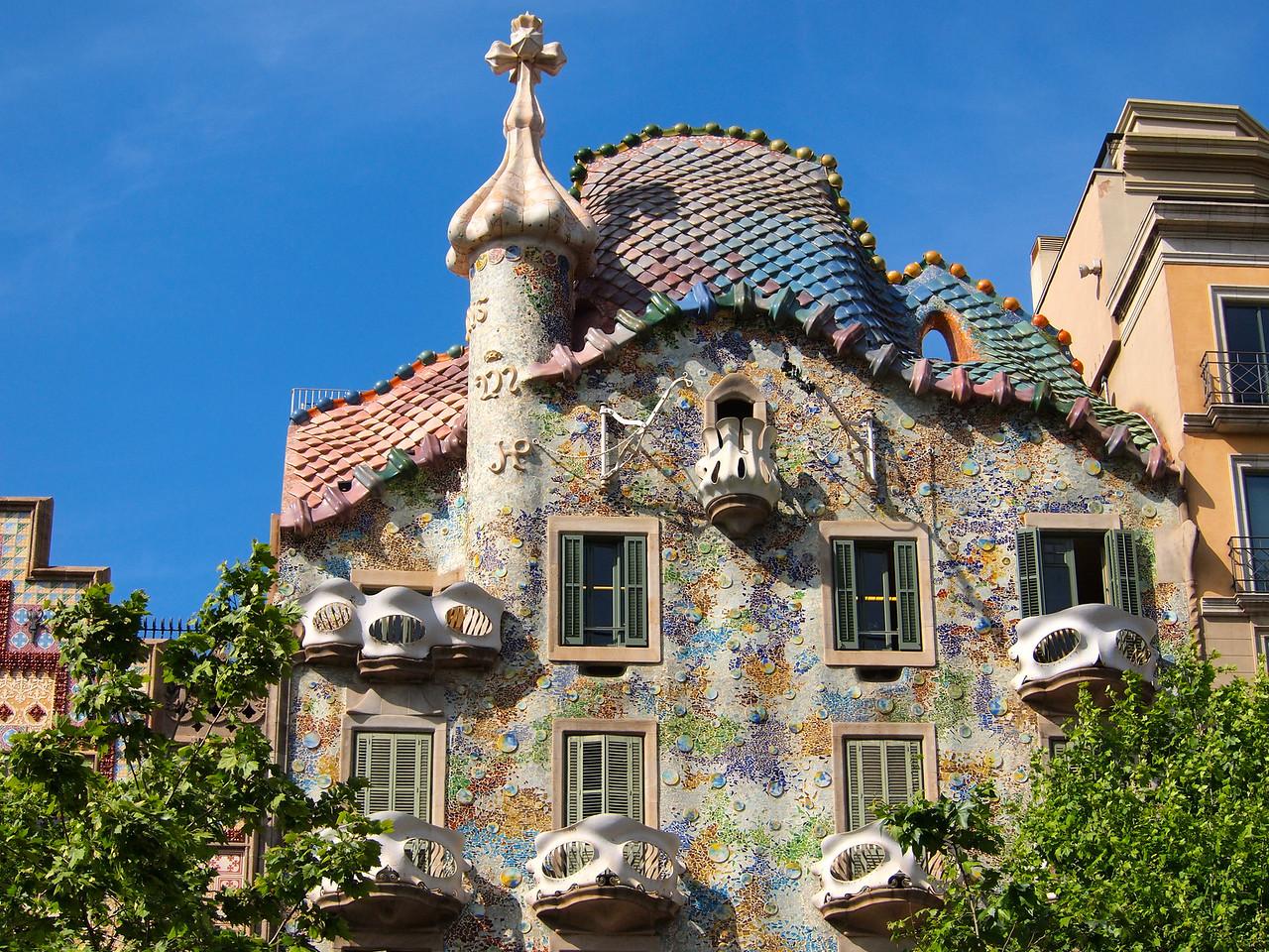 Antoni Gaudi buidling in Barcelona