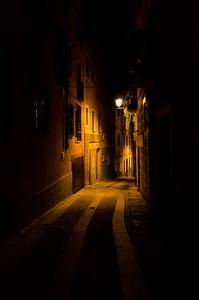 Dark street in Segovia