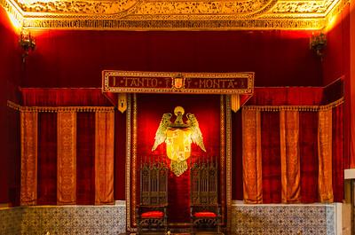 Alcazar of Segovia, throne room