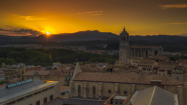 Sunset over the Cathedral in Girona