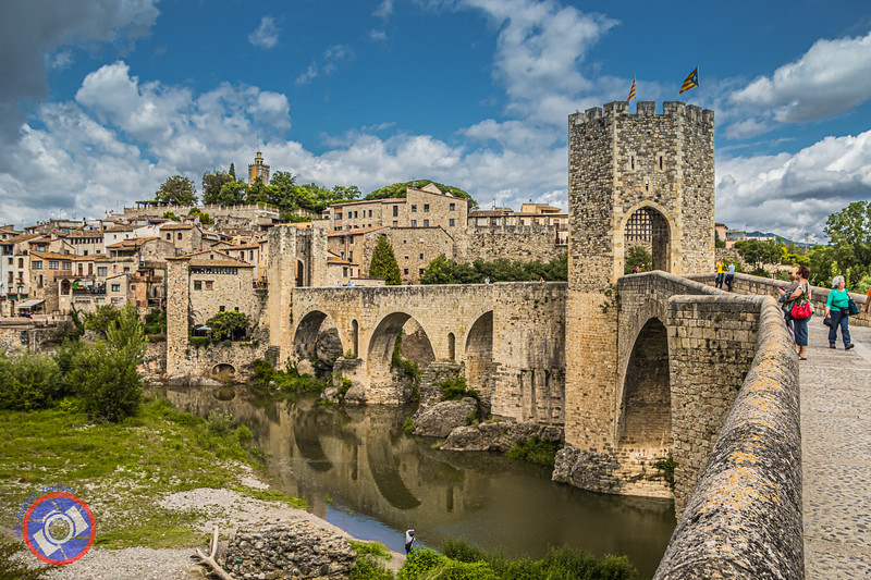 The Medieval Bridge Crossing the River Fluvia (©simon@myeclecticimages.com)