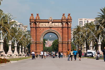 Arch of Triumph, Barcelona, Spain