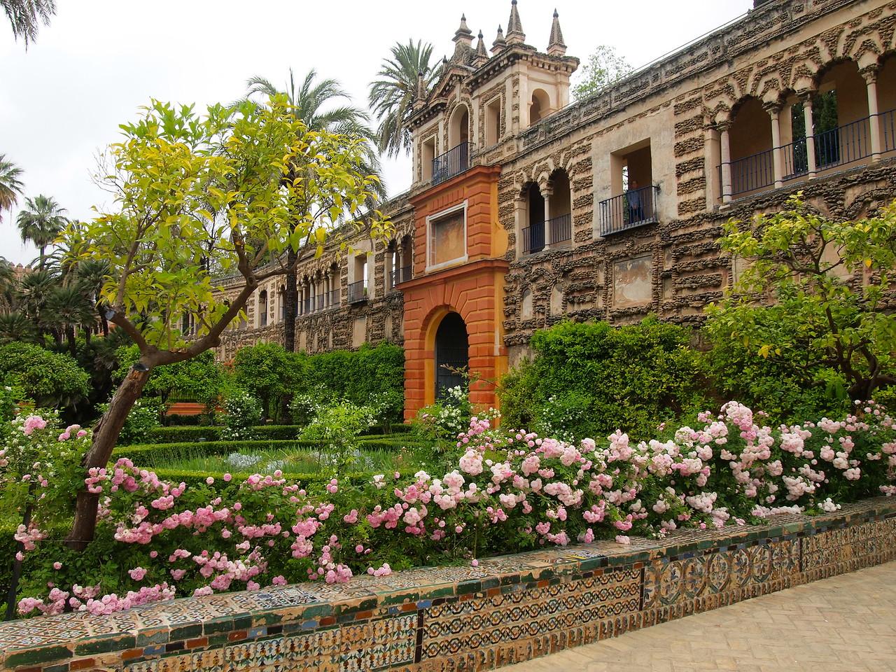 Gardens of the Royal Alcazar in Seville, Spain