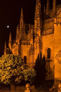 Cathedral of Segovia at night,Segovia