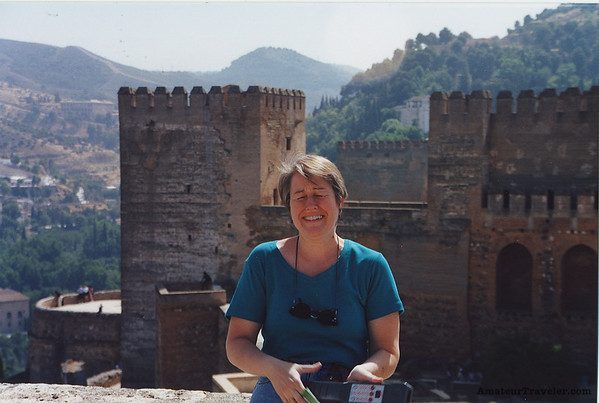 Joan at the Alhambra - Grenada, Spain