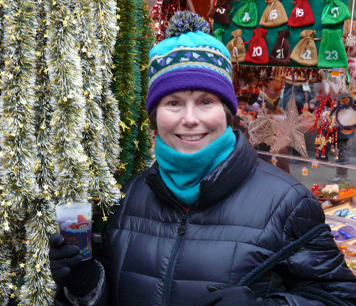 A glass of vin chaud will warm you up at the Strasbourg Christmas markets in France. It was part of our Rhine River Christmas Markets itinerary with AmaWaterways. It's a festive time of year to travel in Europe.