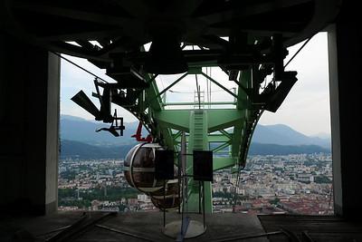 The funicular of Grenoble (télépherique)