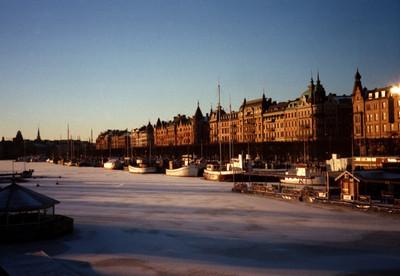Boats in Winter - Stockholm, Sweden