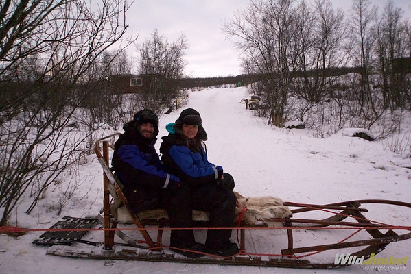 Alberto and I on the sleigh