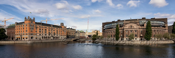 Rosenbad and Riksdagshuset (Parliament House)