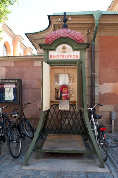 Rick's telephone booth, Gamla Stan, Stockholm